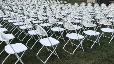 Photo of Folding Chair Hire Under A Blue Sky