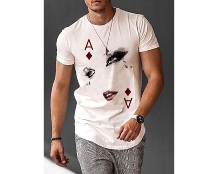 Poker A Ink Print T-shirt